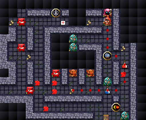 The beautiful pixel-art does a good job of depicting the dungeons dangerous enemies