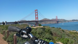 This is a famous bridge. I rode over it on a bike.